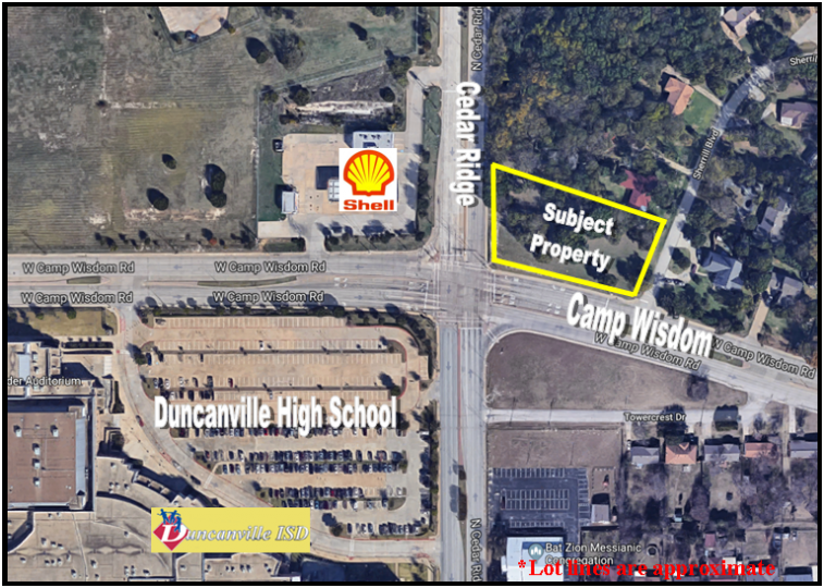 739 & 743 W. Camp Wisdom, Duncanville, Texas, ,Retail (land),For Sale,W. Camp Wisdom,1118